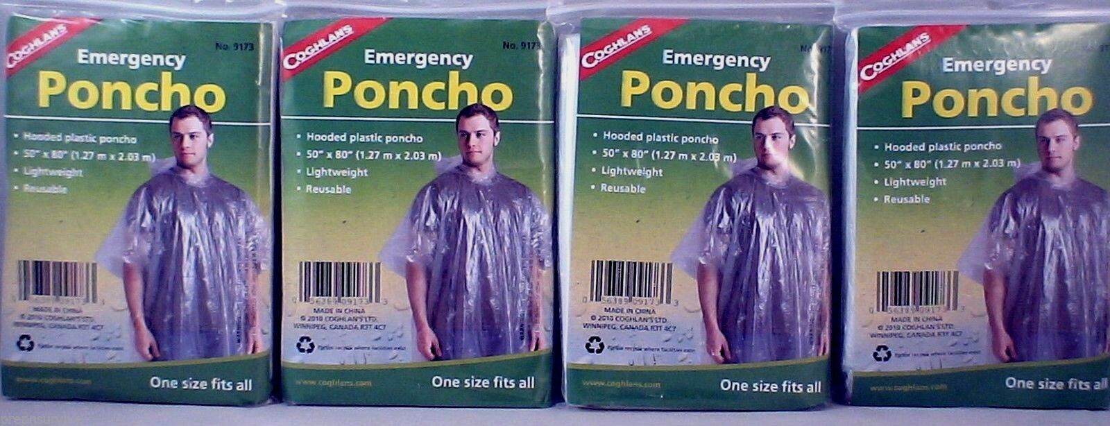 Coghlan/'s 9173 Urgence Poncho Pack de 2