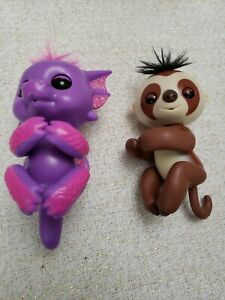 WowWee-Fingerlings-Glitter-Dragon-Purple-amp-Pink-Interactive-Pet-Monkey-Lot