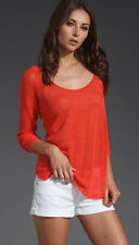 SOFT JOIE NIA CORAL MESH KNIT SLOUCHY TOP LARGE