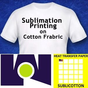 sublimation on cotton t shirts light heat press transfer paper
