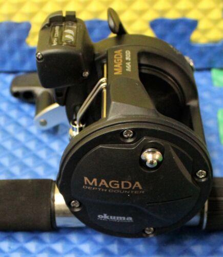 "Okuma Black Classic Pro Trolling Combo 8/' 6/"" Rod MA30D Reel CPDR-86M-MA30D 2Pack"