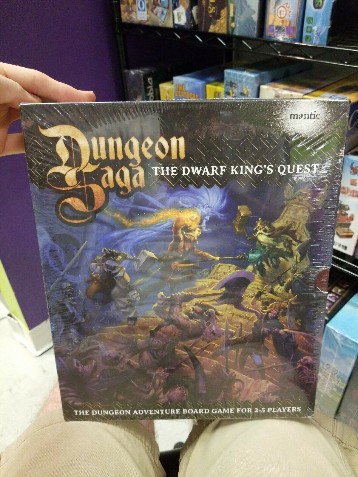 Dungeon Saga  The Dwarf King's Quest Fantasy Board jeu mgemgds 01