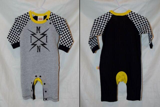 Harajuku Mini 3-6M One Piece Outfit Romper Baby Boys Black & White Checkered NWT
