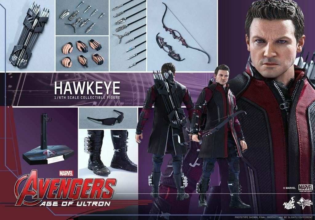 heta leksaker Hawkeye Avengers Age of Ultron MMS289 Jeremy Renner New  Sealed Shipper