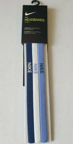 Nike élastique Bandeaux Unisexe Bandeau pack de 3 Taille unique Gym Sports