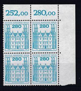 Berlin-1982-postfrisch-Eckrand-oben-rechts-MiNr-676-Burgen-und-Schloesser