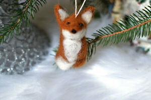 Needle-felted-fox-ornament-Needle-felted-animals-Fox-felted-Christmas-ornament