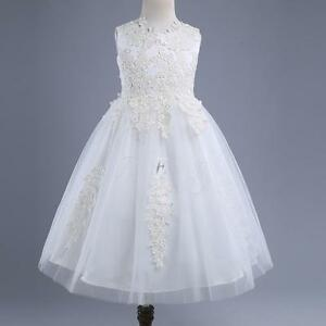 Lace-Flower-Girl-Formal-Birthday-Party-Graduation-Pageant-Wedding-Dress-Age-3-10