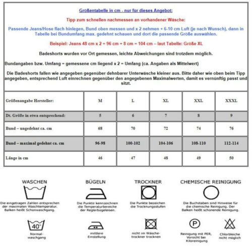 HERREN DAMEN BERMUDA BADESHORTS BADEHOSE KARIERT Saphirblau in M