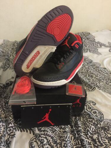 Jordan 136064 Bright 11 Crimson Taglia Air Purple Iii Nero Retro Nike 005 3 rBdCxoe