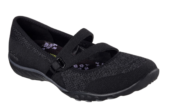 SKECHERS RELAXED FIT: BREATHE EASY - LUCKY LADY MARY JANE Schuhe 23005 BLK