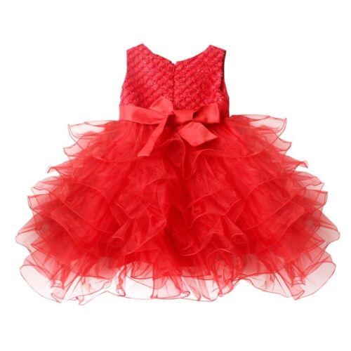 Kids Flower Girl Dress Toddler Party Princess Wedding Birthday Tutu Skirt Dress