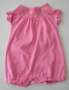 ea8676a23 Baby Girl GYMBOREE Sz 6 12m Pink Polka Dot Smocked s s One Piece ...
