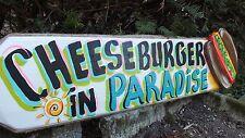 CHEESEBURGER IN PARADISE TROPICAL POOL BEACH HOUSE TIKI BAR SIGN PLAQUE