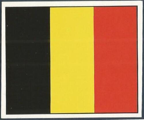 ORBIS 1990 WORLD CUP COLLECTION-#252-BELGIUM TEAM FLAG