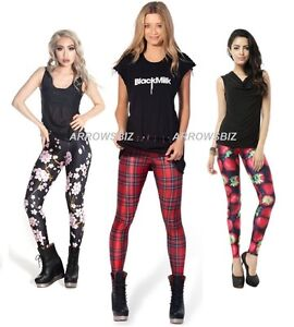 1e3da748875f79 Image is loading Women-Girls-Tie-Dye-Fashion-Print-Stretch-Slim-