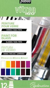 Pebeo Vetro Vitrea 160 Exploration 12 X 20ml Pittura Lucido Set di 757461