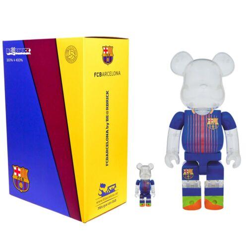 Medicom Bearbrick 100/% 400/% Set Messi Soccer FC Barcelona Be@rbrick In US New