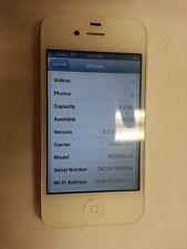 BAD ESN - MINT - Apple iPhone 4 - 8GB - White (nTelos) Smartphone