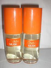 SET OF 2 JOVAN MUSK COLOGNE SPRAY 2.0fl oz NO BOX