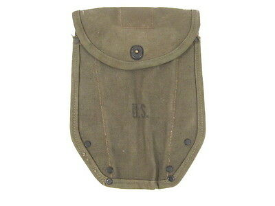 WWII Era US Army M1943 Entrenching Tool Shovel Canvas Cover Carrier 1944 1945