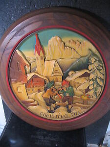 Anri 1971 CHRISTMAS IN ST JAKOB IN GRODEN Ltd Ed Annual Plate