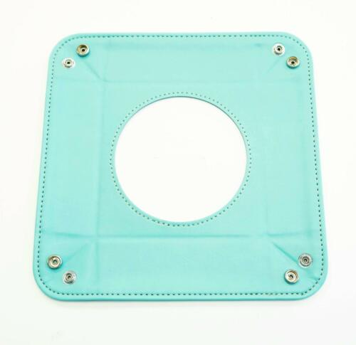 """Teal Leather Square Snap Tray for a 4.2/"""" Rd Needlepoint Canvas by LEE *NEW* LG"""