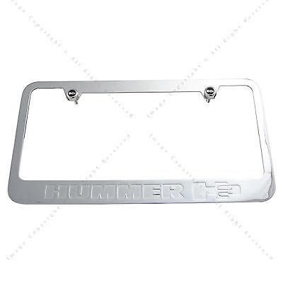 Hummer H3 Chrome Plated Metal License Plate Frame Holder