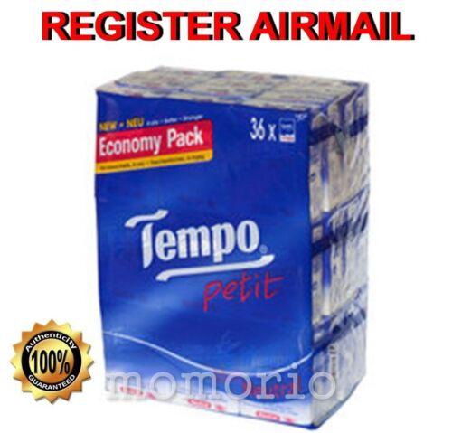 36 packs Neutral Tempo Petit Pocket Tissues Paper 4 ply handkerchiefs value