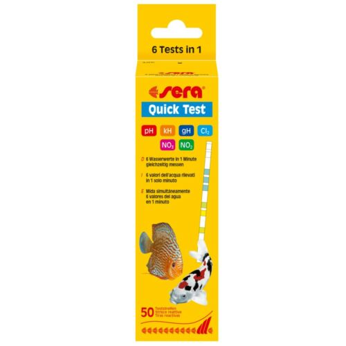 Nitrat Gesamthärte sera Quick Test = Teststreifen pH Nitrit Karbonathärte