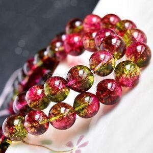 4MM-18MM-Natural-Watermelon-Tourmaline-Round-Gemstone-Loose-Beads-15-034-AAA