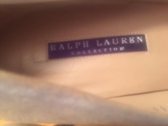 Pre-owned RALPH LAUREN Tan Suede Heel Pumps w/ 3'' Tortoiseshell Heel Suede SZ 9.5B 192ea0