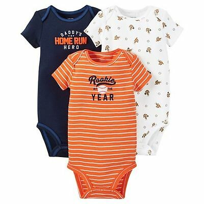 New Carter/'s Just One You 3 Pack Bodysuits Rocket Ship Space 3 6 12 18 24m Boys