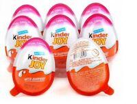 12 Kinder JOY Surprise Eggs for GIRL,Chocolate Toy Inside,Kids Easter Eggs Gift