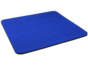 DARK-BLUE-Quality-Mouse-Mat-Pad-Foam-Backed-Fabric-5mm-BUY-2-GET-1-FREE