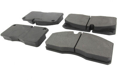 Front+Rear Set HIGH FRICTION SEMI-MET Brake Pads with Rubberized Shims BL46811