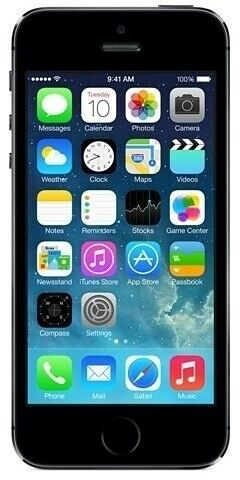 iPhone 5S, GB 16, sort