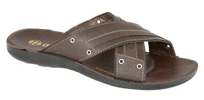 Frank Mens Luxury Slip On Casual Beach Mule Sandal Brown 8 SorgfäLtig AusgewäHlte Materialien