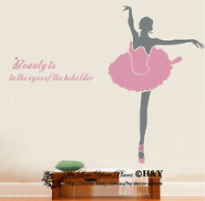 Giant Ballet Dancing Dancer Wall Art Stickers Removable Vinyl Sports Decal Decor