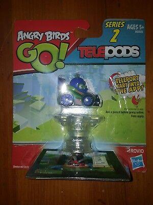 NIP Angry Birds Go Telepods Kart Series 2 HELMETED CORPORAL Rovio Hasbro