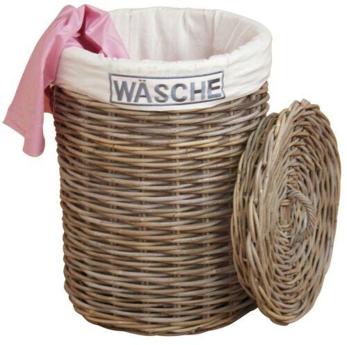 Wäschekorb Wäschesammler Wäschetruhe Wäschebox Wäschetonne Rattan 2 Farben