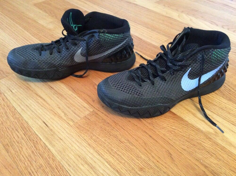 Nike Kyrie 1 Driveway 705277-001 Black/Green Indoor Basketball Shoes 10.5