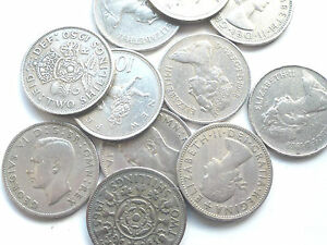 BUY-3-GET-1-FREE-1947-TO-1981-LARGE-OLD-GEORGE-VI-ELIZABETH-II-TWO-SHILLING-10p