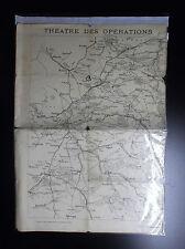 Ancienne carte des opérations septembre Namur Nancy Bale 1914