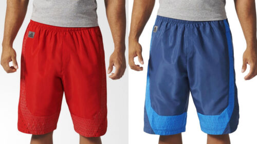Adidas Men/'s Hero Ball Woven Shorts Red//Blue M//L//XL//XXL NWT