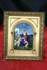 tableau émaux de Limoges Ernest Blancher monogrammé vierge angelots putti