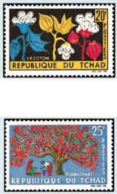 31259 Briefmarken Flora Tschad 99/100 Briefmarken Motive