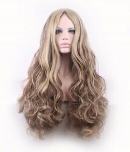 Women-039-s-Breathable-Long-Wavy-Black-Synthetic-Hair-Wig-for-Daily-Wear-24-Inch