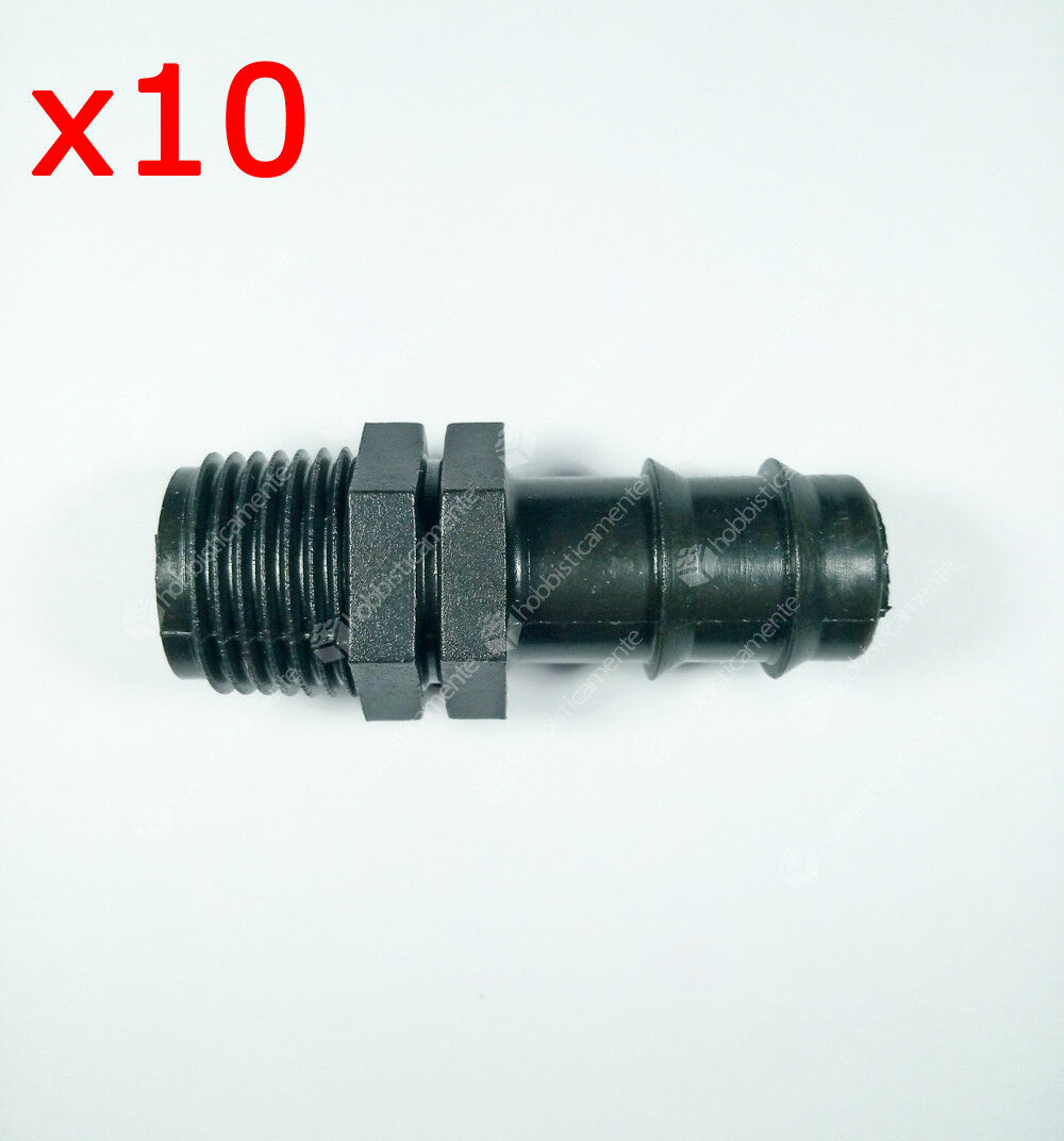 Kit 10 Pieces - Fitting Hose Connector 32 x 1 Thread Irrigation Coupling Pp Lawn