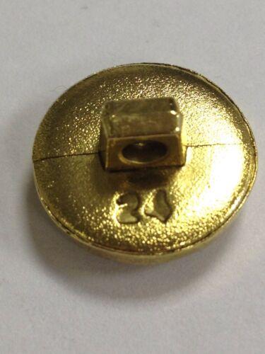 Antique Gold Effect Rose Flower Buttons 24 Ligne 15mm Pack Of 6